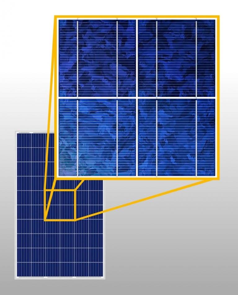 Polikristályos napelem cellák