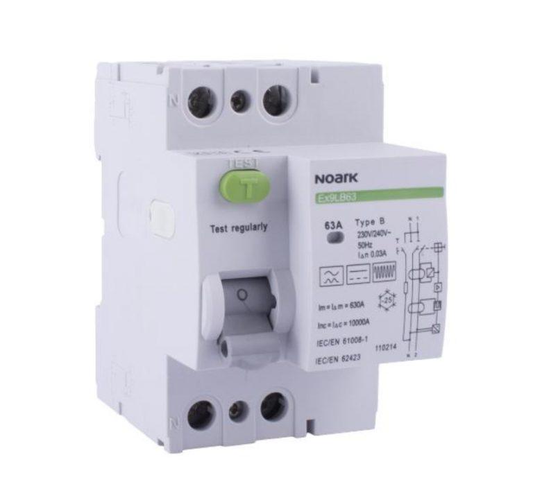 NOARK Ex9LB63 B-típusú áram-védőkapcsoló